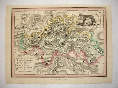 19th century hand coloured map Tribe of Benjamin- Mathews & Leigh - Hewitt -1812