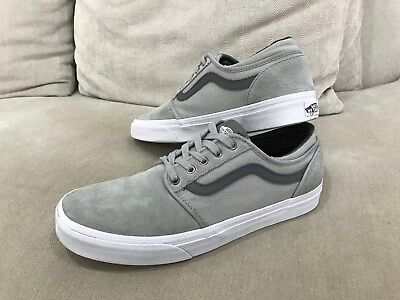 Unisex VANS Grey Skateboarding Sneakers Shoes Size US 8M 9.5W UK 7 [VS2]