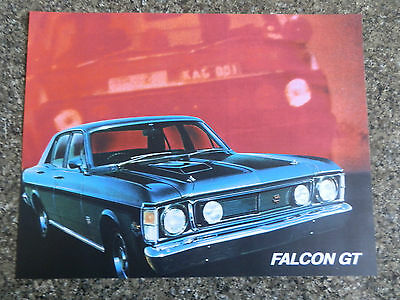 Ford 1969 Xw Gt Sales Brochure Plus ''rare'' Colour And Trim Chart