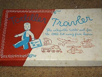 Vintage Collectible Pink Toddler Collapsible Travel Toilet Seat