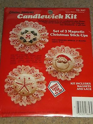 """Creative Moments Christmas Embroidery 3"""" Magnets Set of 3 Kit"""