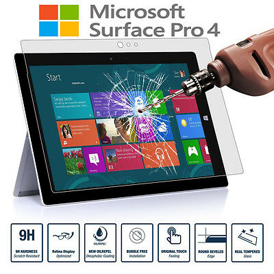 Premium Tempered Glass Screen Protector For Microsoft Surface Pro 6 / 5 / 4 / GO