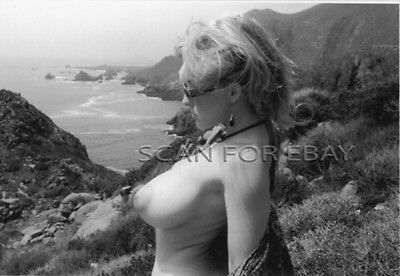 Vintage Nude Original Photo Busty Classic Model Risque Pinup Print R 20
