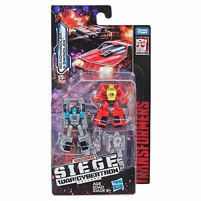 Transformers War for Cybertron Roadhandler & Swindler Siege Micromasters WFC-S4