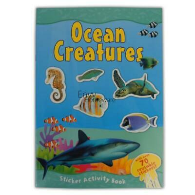 Ocean Creatures Sticker Activity Book - Over 70 Reusable Stickers Sea Fish Shark