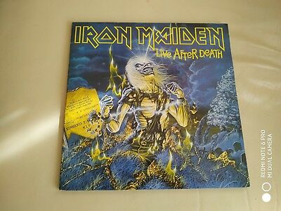 2Lp Iron Maiden Live After Death Vinyl Spanish Press Heavy Metal No Poster