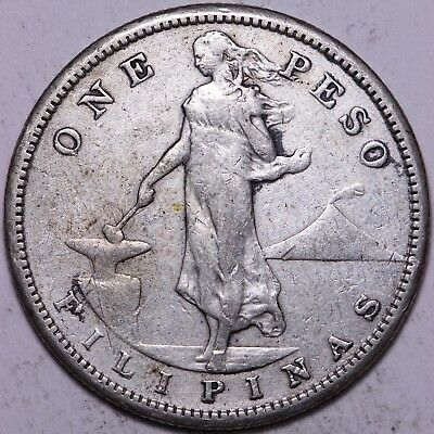 1907-S US Philippines One Peso             R2KCY