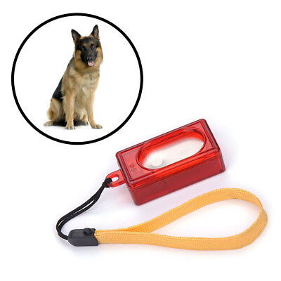 New Dog Pet Click Clicker Training Obedience Agility Trainer Aid Wrist Strap