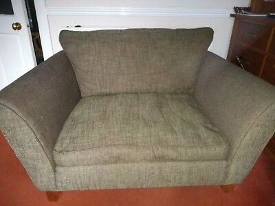 M S Snuggle Love Seat Sofa 2 Seater Olive Green