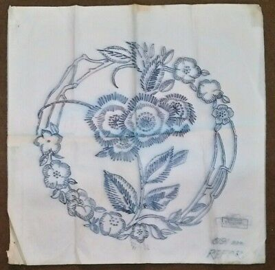 Vintage Embroidery Cushion Cover Iron on Transfer