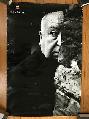 Original 1997 Apple Think Different Poster Alfred Hitchcock 24x36 Rare
