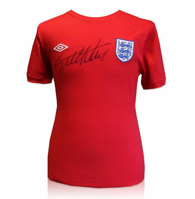 Geoff Hurst SIGNED 1966 England replica shirt CoA World Cup Winner West Ham 66