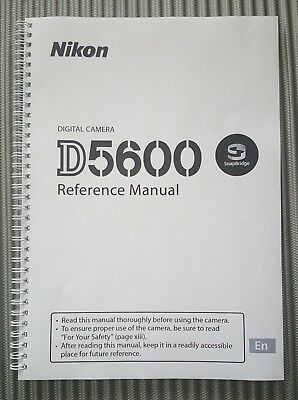~PRINTED~ Nikon D5600 User guide Instruction manual   424 pages Colour