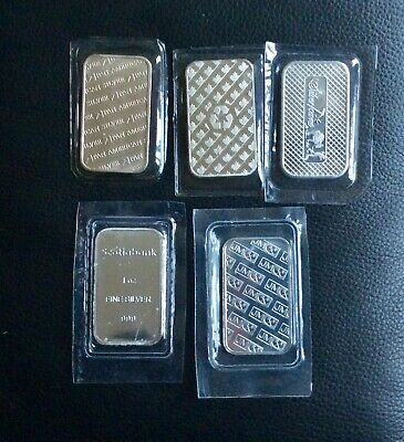 Lot of Four 1 oz 999+ Silver Bar - No Tax