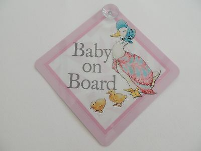 Jemima Puddle Duck Baby on Board Car Sign - Peter Rabbit - Beatrix Potter 150th