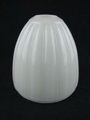 Superb Vintage Heavy Opaline Glass Ceiling Pendant Shade, Ribbed Decoration