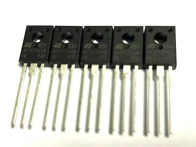 ACST310-8FI, TRIAC, 3A, 800V, TO-126FP, Isoliert, STMicroelectronics  5 Stück