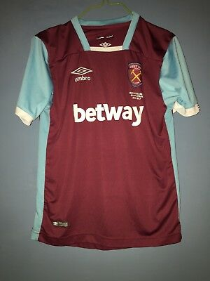 West Ham United vintage football shirt Betway Olympic park 16 17 Large  Junior 64d7bb574fd1e