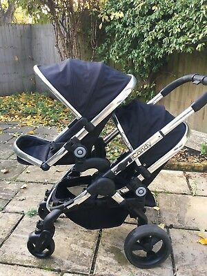 43346251038e ICANDY PEACH BLOSSOM Black jack Carriage Double Seat Stroller ...
