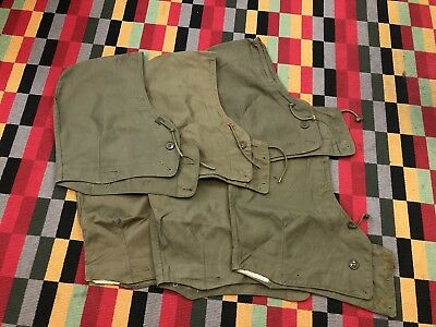 Lot of 6 Vintage Army Military WW2 US Hood for M-1943 Field Jacket. 5 Small 1 XL