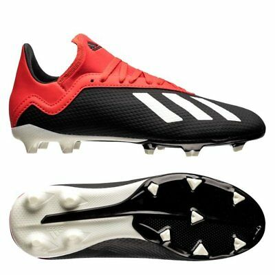 0a7ea0deb93 YOUTH ADIDAS KIDS X 18.3 FG Soccer Cleats (Core Black Active Red ...