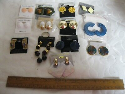 Lot 2 New 13 Pc Retro 80S 2 Now Fashion Earrings Chunky Funky Gold Or Silvertone