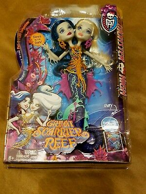 Monster High Great Scarrier Reef Peri & Pearl Serpentine Doll  NEW