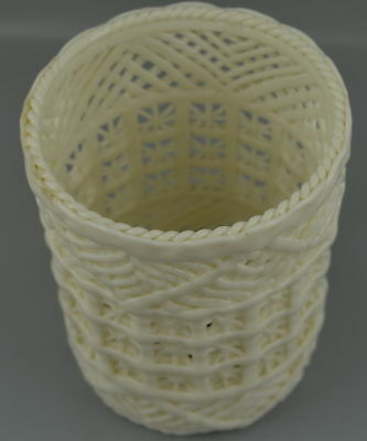 Collect Old White Porcelain Carve Hollow Out Usable Rare China Style Brush Pot