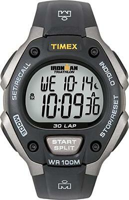 NEW Timex Ironman Triathlon 30 Lap Grey/black (FREE AND FAST SHIPPING)