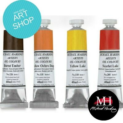 Michael Harding Oil Paint 40ml Tubes High Quality Colours COMBINED POSTAGE