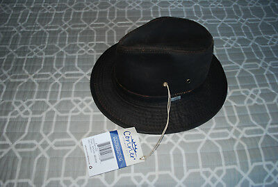 236a23ea61279 Conner Hats Men s Indy Jones Water Resistant Cotton Hat (Brown) Size Medium