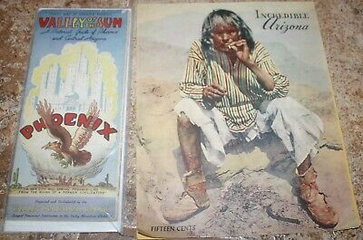 Vintage ~ 2 Maps ~ Map of Greater Phoenix Valley of the Sun & Incredible Arizona