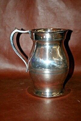 "Antique Wallace Silverplate 8"" Water Pitcher - Etched: 'Smith 25th Anniversary'"