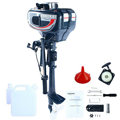Pro 3.5HP 2 Stroke Power Outboard Motor Fishing Engine Water Cooling CDI System