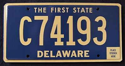 """DELAWARE """" THE FIRST STATE - COMMERCIAL TRUCK """"  DE License Plate"""