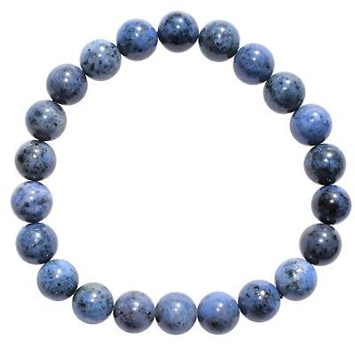 CHARGED Polished Natural Dumortierite Bracelet Stretchy HEALING ENERGY REIKI