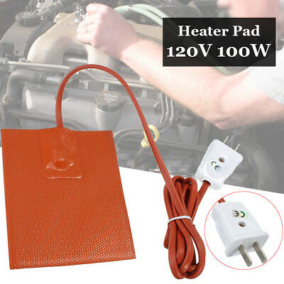 Engine Oil Pan Sump Tank Heater 100W-120V Hot Pad Protection Reduce Wear Orange