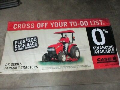 """Vintage Case IH DX Series Farmall Tractor Dealers  BANNER 76"""" LONG X 38"""" HIGH"""