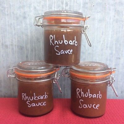 Rhubarb Sauce - Homemade, BBQ Condiment, Alternative To Quince Paste & Relish