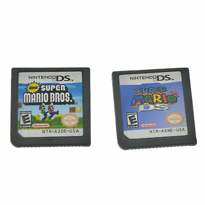 Hot Super Mario 64 DS+Super Mario Bros Game Card For Nintendo 3DS DSI DS XL Gift