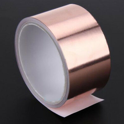 3mx50mm EMI Copper Foil Shielding Tape Conductive Self Adhesive Barrier Guitar