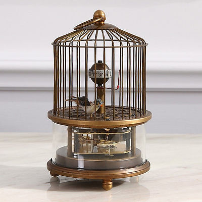 Rare brass birdcage Mechanical Table Clock