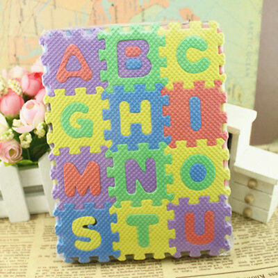 Baby Kids Alphanumeric Educational Puzzle Infant Child Toy Floor Mats DIY Gift
