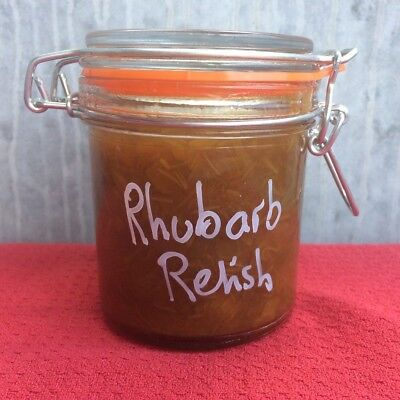 Rhubarb Relish, Homemade, BBQ Condiment, Great In Sandwich & Toast, Like Chutney