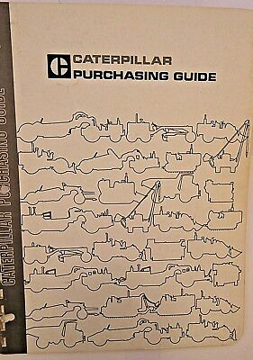 Caterpillar Machine product purchasing guide dated 1969