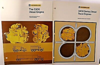 Caterpillar 3306 and 3406 Engine sales brochures