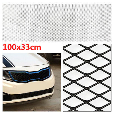Black Aluminium Car Bumper Grille Grill Mesh Net Vent 10x5mm 100x33cm CT2023 UK
