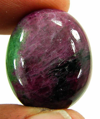 39.45 Ct Natural Ruby Zoisite Anyolite Loose Gemstone Cabochon Stone - 19327