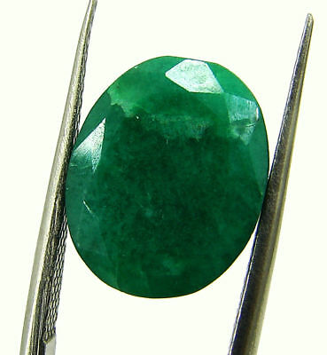 7.36 Ct Certified Natural Green Emerald Loose Oval Cut Gemstone Stone - 131233