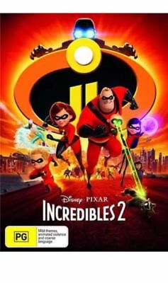 Incredibles 2 (DVD, 2018) New Sealed Region 4